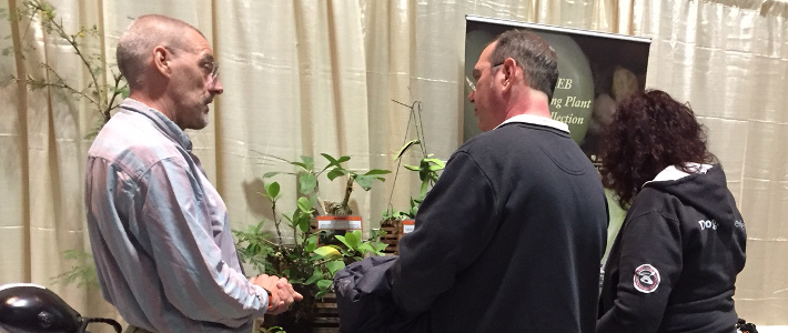 Manager Clinton Morse discusses AntU programming at 2018 CT Flower & Garden Show