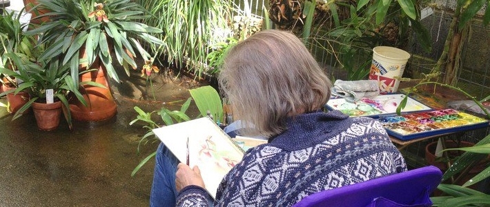 Visiting Artist in the Greenhouse