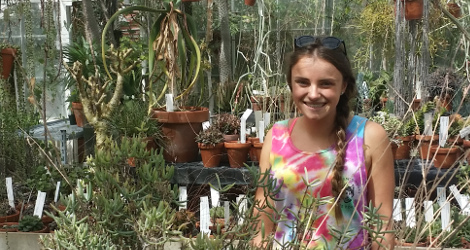 Jackie Degregorio<br>Student Greenhouse Volunteer, Fall 2016